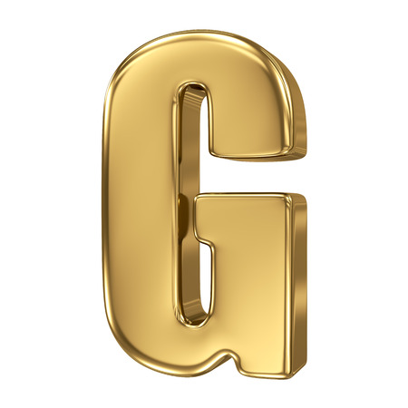 goldbars: Letter G from gold solid alphabet