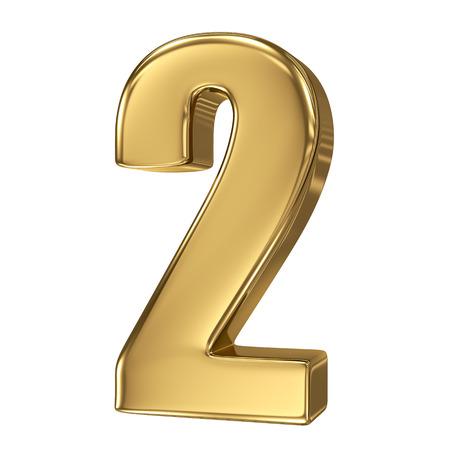 3d golden Zahl Sammlung - 2 Standard-Bild - 27207979
