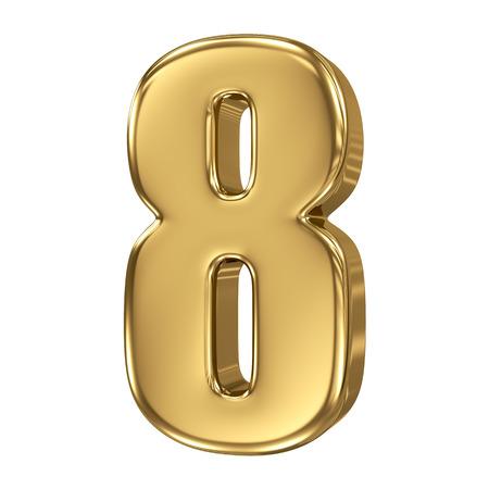 3D gouden nummer collectie - 8