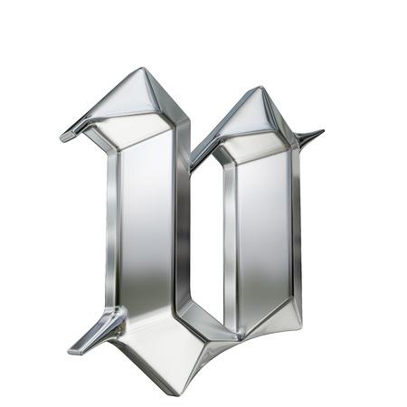 金属は、ドイツのゴシック様式アルファベットのフォントの文字をパターン化。文字 v