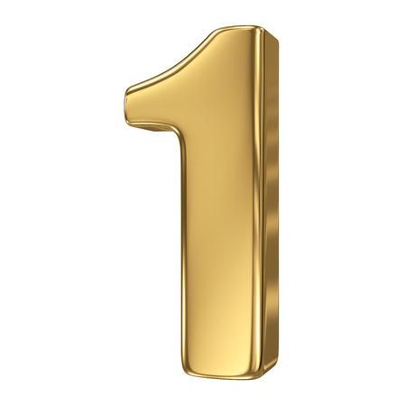 nombre d or: 3d or collection de nombre - 1
