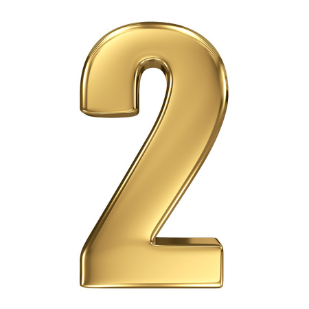 3D gouden nummer collectie - 2 Stockfoto - 27208523