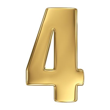 3D gouden nummer collection - 4
