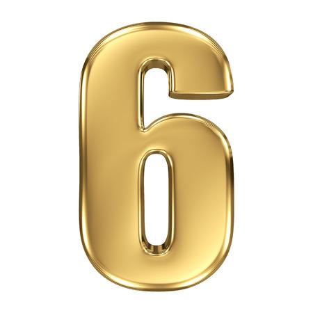 numero uno: Colección 3d número de oro - 6 Foto de archivo