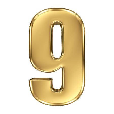 numero nueve: 3d colección número de oro - 9