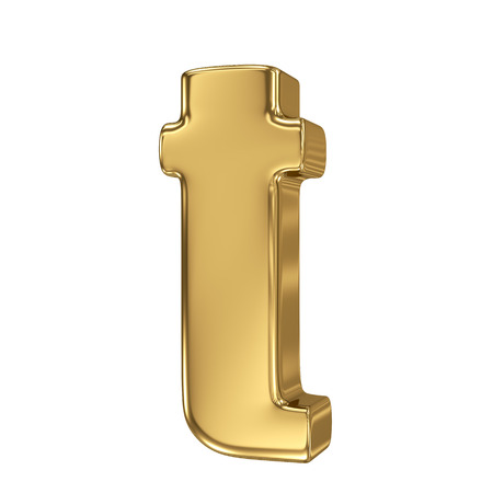 goldbars: Letter t from gold solid alphabet. Lowercase