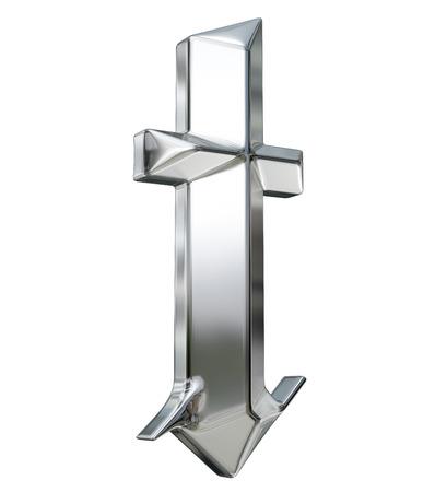 金属は、ドイツのゴシック様式アルファベットのフォントの文字をパターン化。T の文字