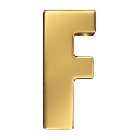 goldbars: Letter F from gold solid alphabet
