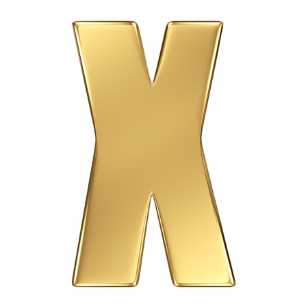 goldbars: Letter X from gold solid alphabet