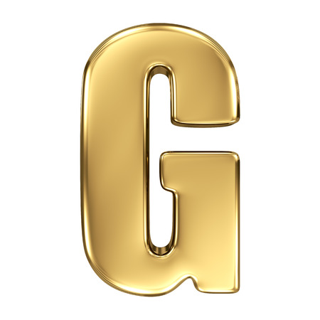 g alphabet: Letter G from gold solid alphabet