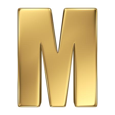 goldbars: Letter M from gold solid alphabet