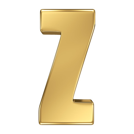 goldbars: Letter Z from gold solid alphabet Stock Photo