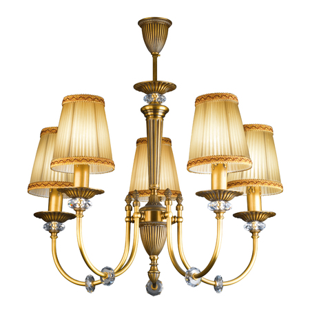 chandelier background: Vintage chandelier isolated on white background with clipping path