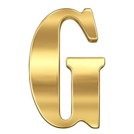 goldbars: Letter G from gold solid alphabet.