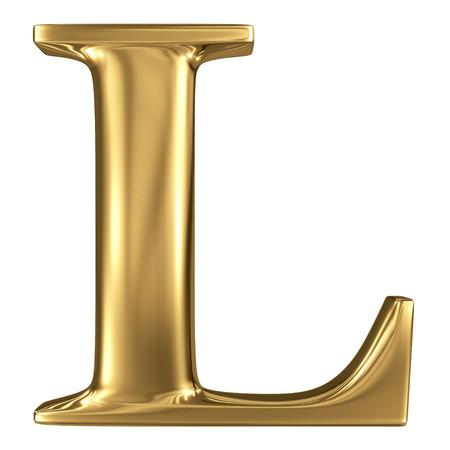 letras de oro: Carta de oro de alta calidad 3d aislado en blanco