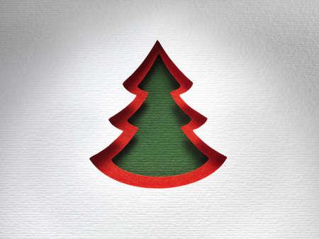 papercraft: Christmas paper background texture papercraft theme. Stock Photo