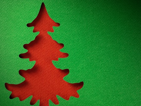 green card: Christmas paper background texture papercraft theme. Stock Photo