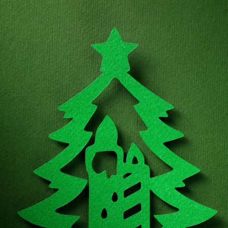 christmas paper: Christmas paper background texture papercraft theme. Stock Photo