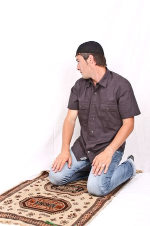 moslem: muslim praying  Stock Photo