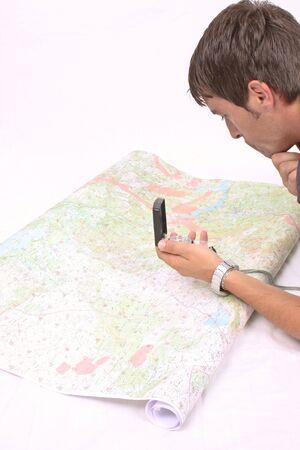 cartographer: cartographer using compas and GPS