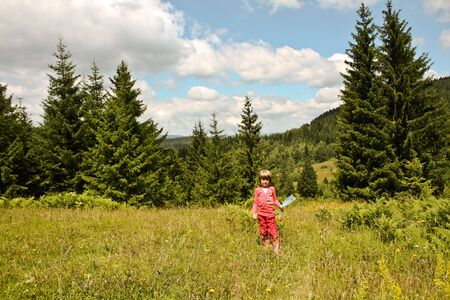 Children playing in nature, enjoying in the forest Stock Photo - 5219099
