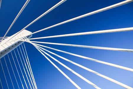 Modern Bridge Construction on Moraca river in Podgorica photo