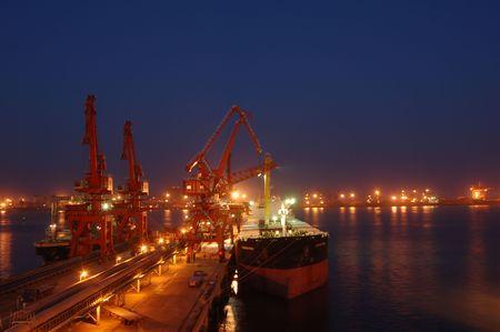 sea port in yellow sea