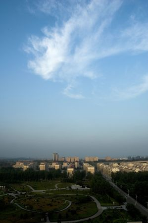 reanimować: piękne niebo i wsi Zdjęcie Seryjne