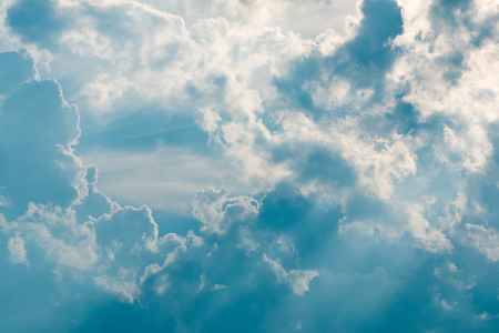 cloudy blue sky background and sunshine Stock Photo