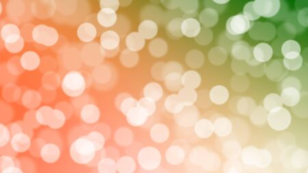 Red and green sparkling bokeh background Christmas,festival concept Stock Photo