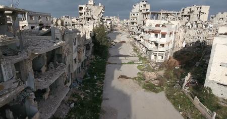 de stad Homs in Syrië Stockfoto