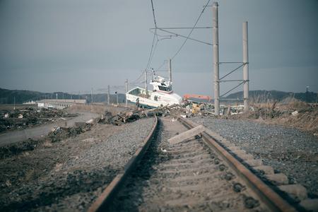 Tsunami: 04/30/2011 Fukushima japan Reklamní fotografie - 93911787
