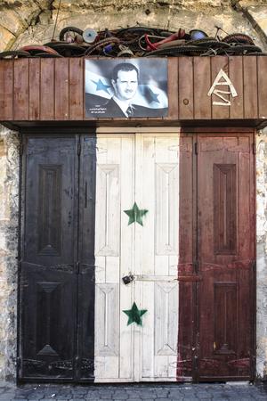 Poster bachar al Assad Jableh Syria 12112015