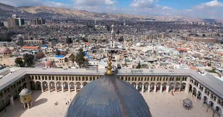 Mosque Damascus Syria Banco de Imagens