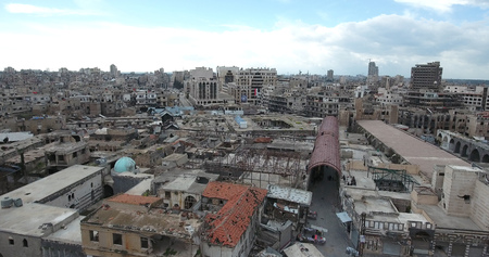 A flight of a drone over Homs in Syria 03042017 - Homs - Syria