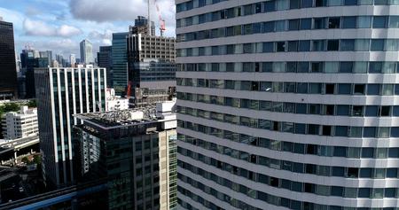 tokyo building in aerial view