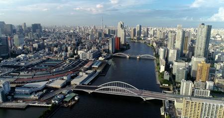 bahía de tokio, en, vista aérea