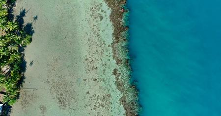 polynesia lagoon in aerial view, french polynesia Stock Photo