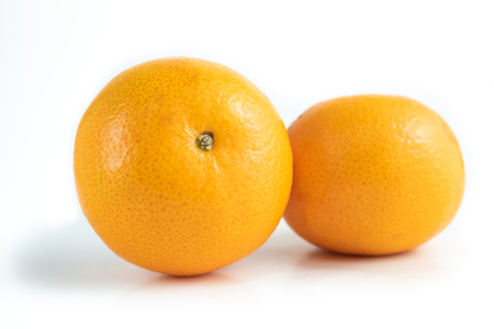 Mandarin orange isolated on white background and clipping path.