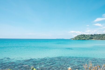 seascape views. the clear skies with beautiful clouds. Suitable for tourism recreation. At Ko Kood, Trat province, Thailand. Reklamní fotografie