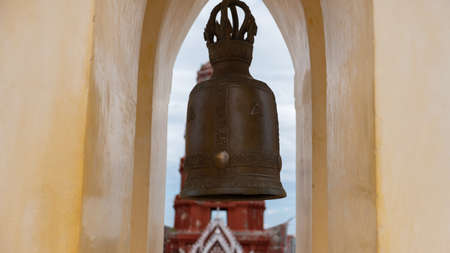 The bell is the sound of heaven. Signs of merit, goodness, fortune, bells are a symbol of goodness. Fame Like a door to heaven 版權商用圖片