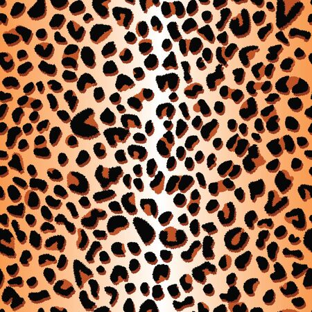 Vector black and orange leopard spots seamless repeat pattern texture background. Banque d'images - 133201022