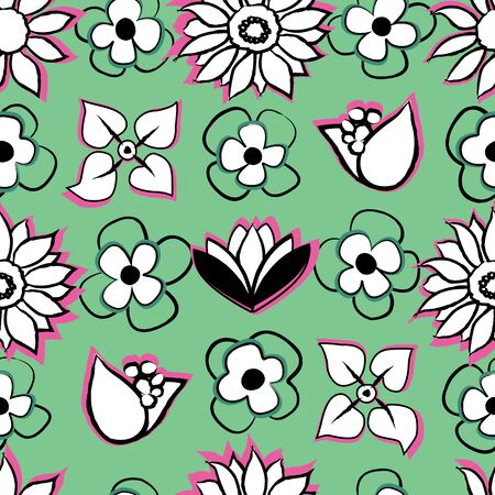 Perfect as graphic design elements, wallpaper, coloring book, invitations or fabric print.