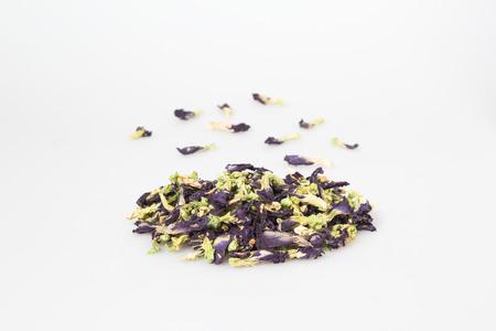thai herb: Dry butter Pea(An-chan) is Thai herb. Stock Photo