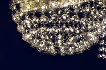 re design: Light lamp  with glass spherical design elements of modern chandelier