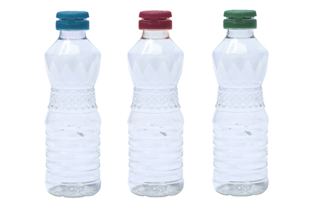 plastic bottle isolated on white