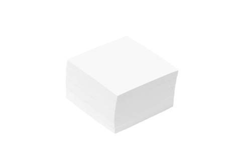 white note in form of the square on white background Stock Photo