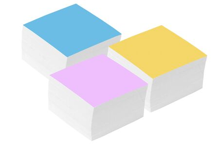 Color note in form of the square on white background Stock Photo