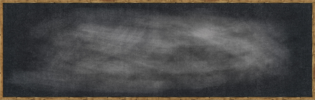 Frame Blank chalk rubbed out on blackboard for text or drawing or education graphic. Stok Fotoğraf