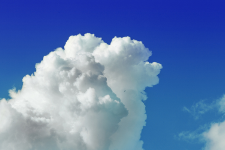 Cloudscape. Blue sky and white cloud.Cumulus cloud. picture background website or art work design. freedom with sky. Stock Photo